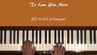 Celine Dion To Love You More Piano Tutorial Slow and Complete