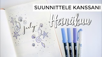 PLAN WITH ME JULY 🐚🖋 -  Bullet Journal Suomi 2018