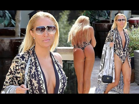Aisleyne Horgan-Wallace wears plunging swimsuit in LA