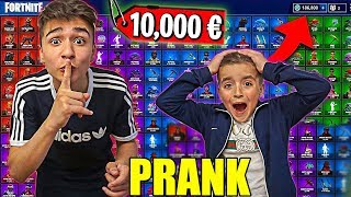 FORTNITE Account SOLD Prank to small BRUDER! *ESCALATED*