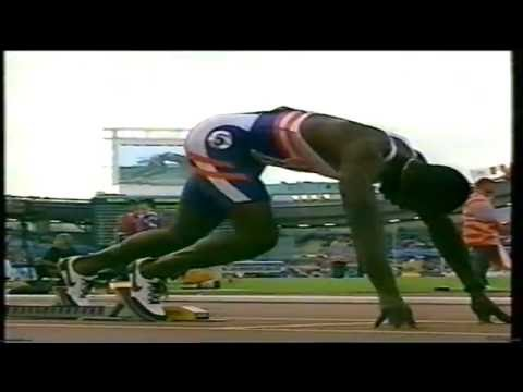 Michael Johnson 400m/200m Goteborg 1995