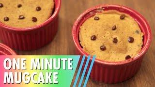Chocolate Chip Mugcake // 1 Minute + 6 Ingredients!