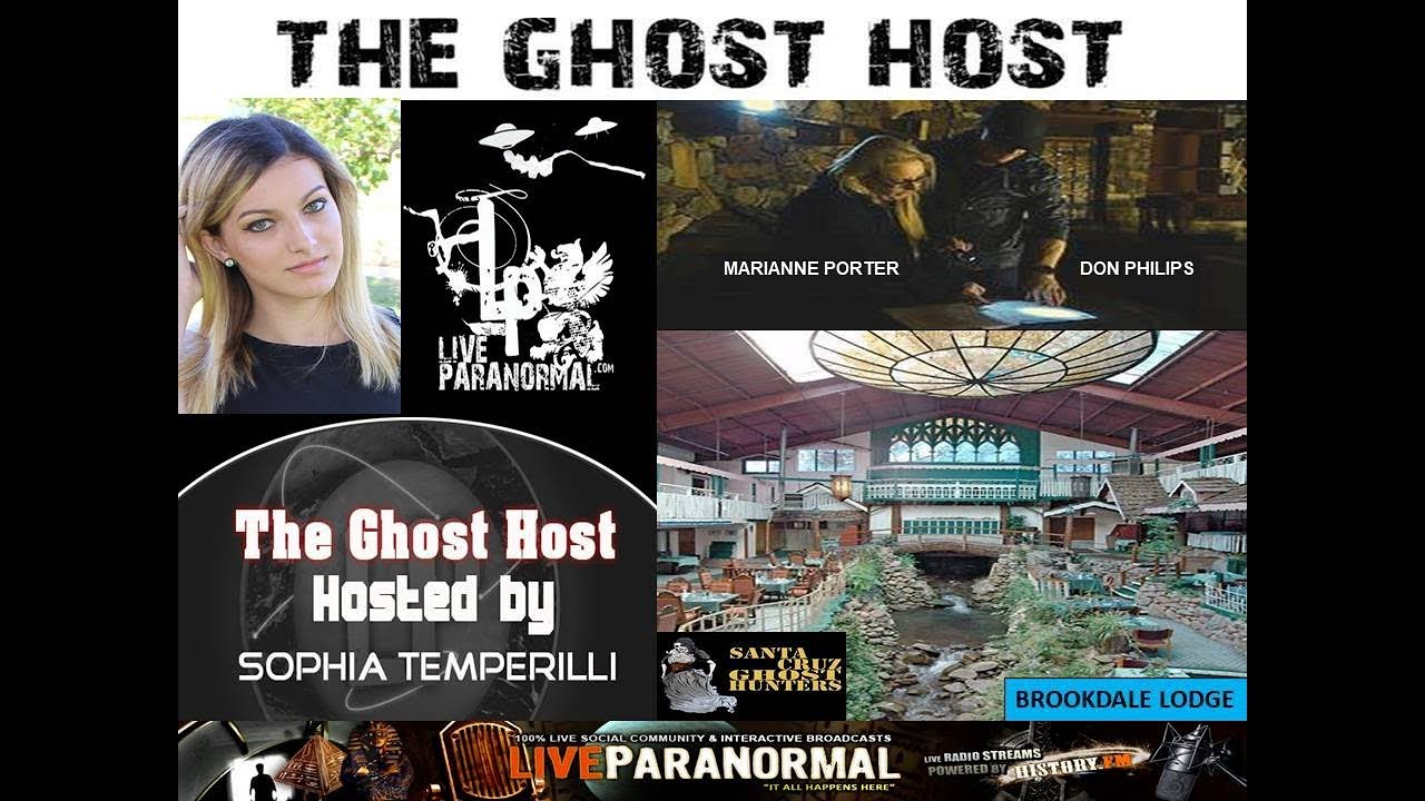 Haunted Brookdale Lodge discussion with Santa Cruz Ghost Hunters and UK  filmmaker Don Philips!!