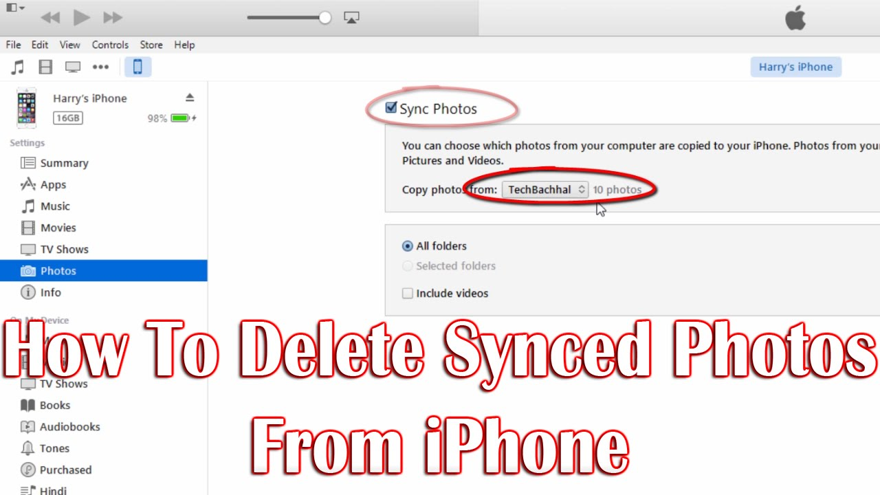 Iphone how to off photos delete