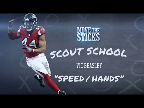 Breaking Down the 2016 Sack Master: Vic Beasley | NFL Scout School | Move the Sticks