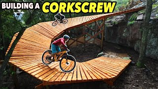 Building a Huge Corkscrew at the Next #1 Downhill Bike Park in the US!