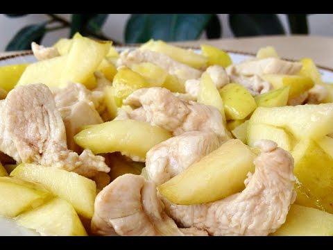 Филе куриное с яблоками в мультиварке