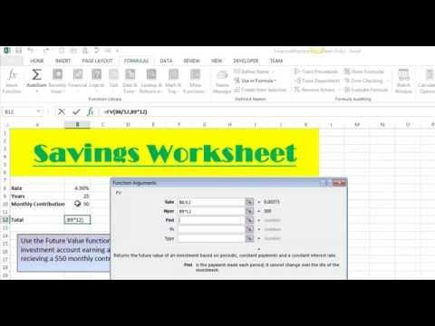 Future Value Function - Excel 2013