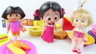 Niloya Ve Dora Market Alışverişine Gidiyor Maşa'nın Yeni Dükkanın'da Neler Var? Niloya Tosbik