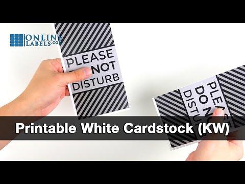 Printable cardstock door hanger
