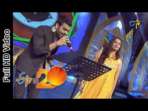 Sreeram and Geetha Madhuri Performs - Top Lesi Poddi Song in Srikakulam ETV @ 20 Celebrations