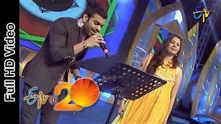 Sreerama Chandra and Geetha Madhuri Performs-Top Lesi Poddi Song in Srikakulam ETV @ 20 Celebrations