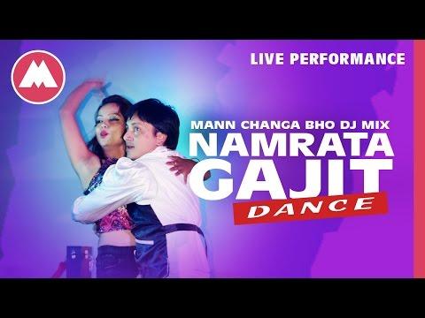 Namrata and Gajit Dance   Mann Changa Bho DJ MIX
