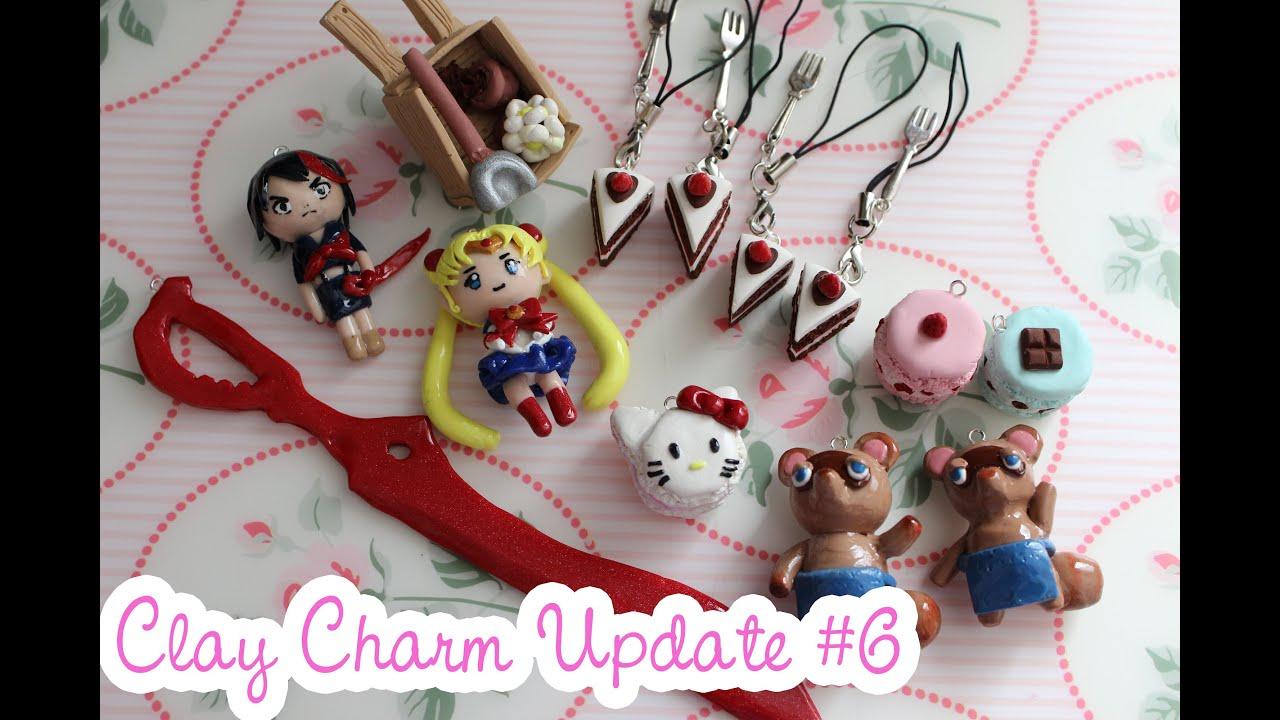 Clay Charm Update #6 - Sailor Moon, Kill La Kill and Cakes! - YouTube