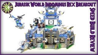 Lego Jurassic World INDOMINUS REX Breakout 75919 Stop Motion Build Review | ALEXSPLANET