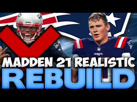 Mac Jones New England Patriots Realistic Rebuild! Mac Jones Becomes A Superstar X Factor! Madden 21