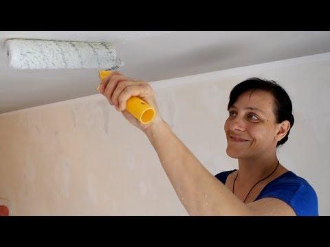 Как красить потолок краской