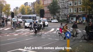 Bicycles in Amsterdam Holland Busy Junction Harmony