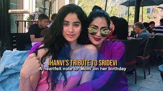 Jhanvi's tribute to Sridevi: A heartfelt note to 'Mom' on her birthday