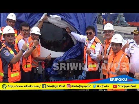 Gerbong LRT Tiba di Palembang Begini Video Penampakannya