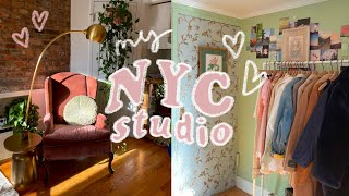 MY NYC APARTMENT TOUR // $1800 studio in manhattan