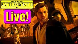 BATTLE OF GEONOSIS DLC LIVE! Star Wars Battlefront 2 OBI WAN KENOBI DLC! Battlefront 2 Update
