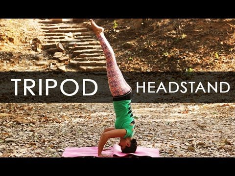 yoga poses tripod headstand workout tutorial i 4  youtube