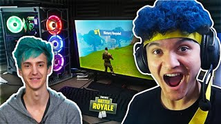 I TURNED My 15 Year Old Little Brother Into NINJA And He Won Fortnite