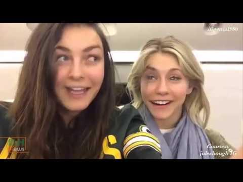 Derek Hough, Julianne & Nina Dobrev swapping faces  February 13, 2016