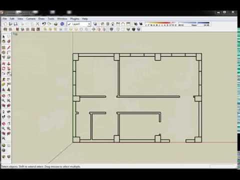Google sketchup plan shtepie doovi for Plan maison google sketchup