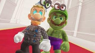 Super Mario Odyssey - Hulk Mario & Thor Luigi Final Boss + Ending
