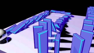 3ds Max 2012 Domino PhysX experiment
