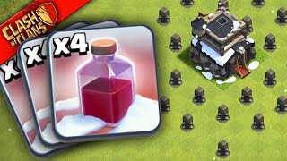 """WHAT HAPPENS WHEN YOU USE ONLY """"Santa Spells"""" In Clash of Clans??"""