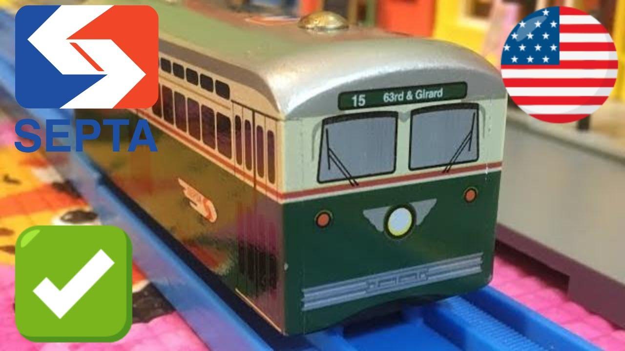 Wooden Toy Train Septa Girard Avenue Pcc Ii Trolley Munipals Wood Trains 04145