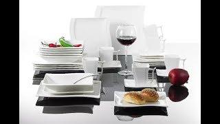 Обзор с алиэкспресс Белый Фарфоровый столовый сервиз из серии ''MaLACASA
