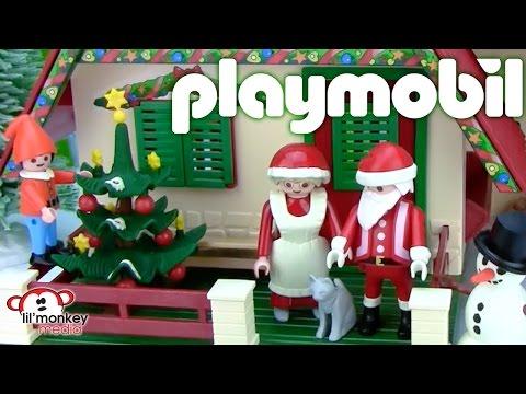 Playmobil Christmas! Santa's House and Mrs. Claus!