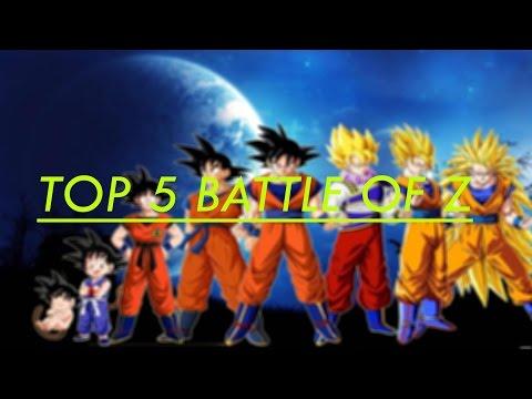 Dragon Ball Z: Battle Of Gods - Top 5 Battles Of Z | Battles Of Goku 2017