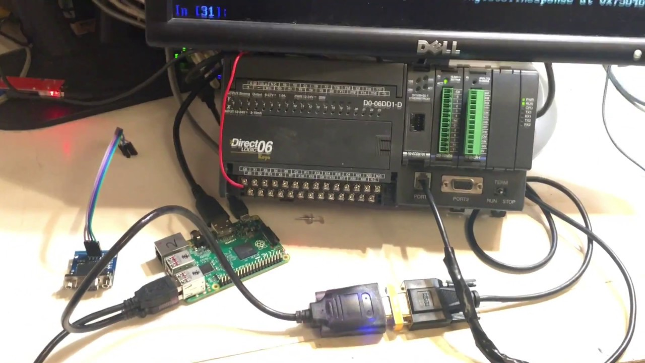 Raspberry Pi - Tutorials - Pymodbus - Modbus Serial (RS-232) Hardware and  Wiring (Koyo DL06)