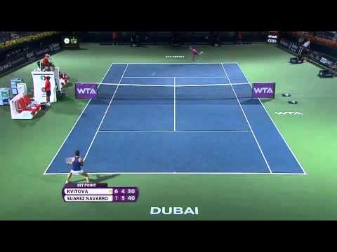 Kvitova Loses Opening Match At Dubai Duty Free Tennis Championships