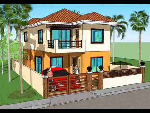 Simple house plan design 2 storey house youtube for Simple two story house