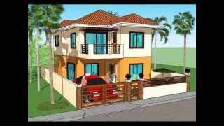 Simple House Plan Design - 2 Storey House
