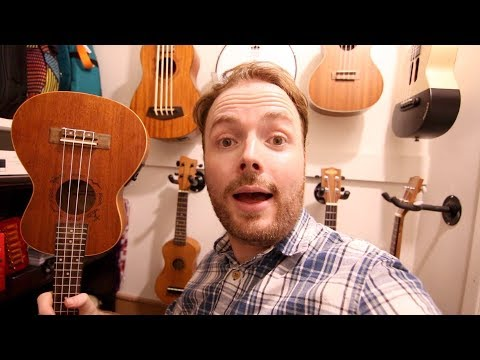 The Ukulele Teacher talks about and plays his favourite ukuleles and guitars