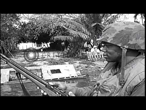 US Marine Forces airlifted in Santo Domingo, Dominican Republic and the Marines a...HD Stock Footage