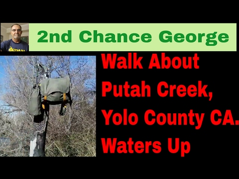 VLOG34 Walk About   Scouting Putah Creek, Yolo County, CA  February 2017