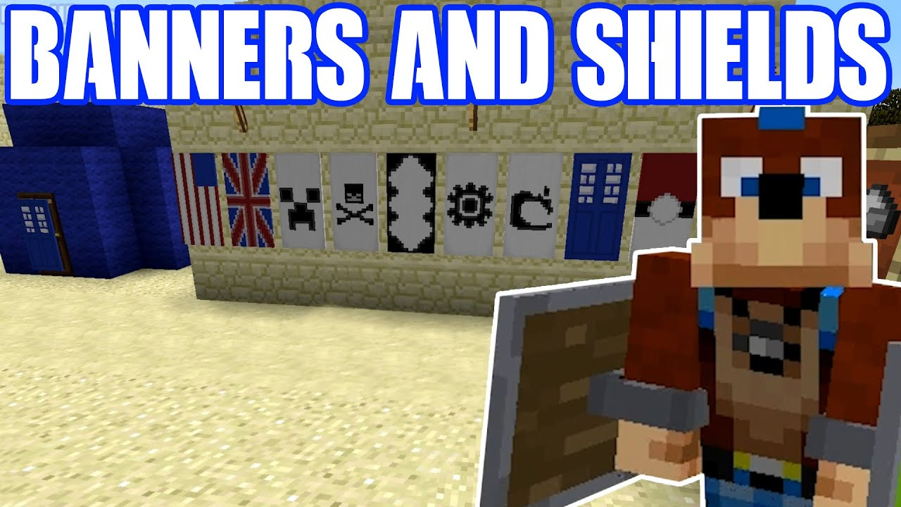 Minecraft How To Banners And Shields Simple Tutorial Youtube