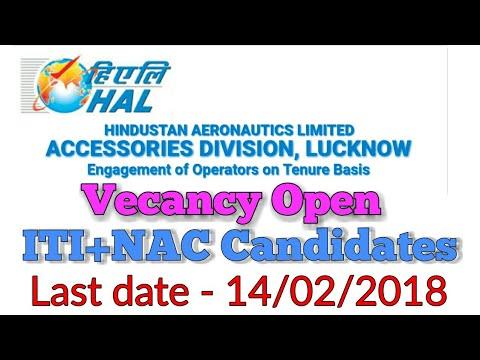 Hindustan Aeronautics Limited (HAL) Lucknow Recruitment 2018