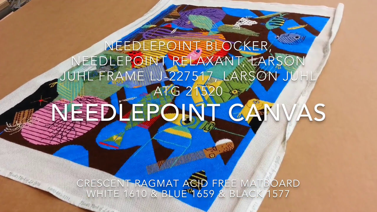 How to frame needlepoint canvas, Larson Juhl moulding and supplies ...