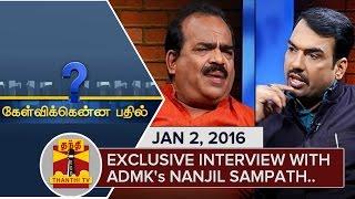 Kelvikkenna Bathil : Exclusive Interview with Nanjil Sampath (02/01/2016) - Thanthi TV