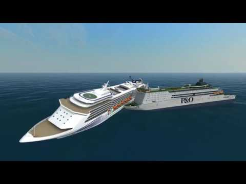 Orient Star vs Pride of Rotterdam   Ship Simulator Extremes Battles