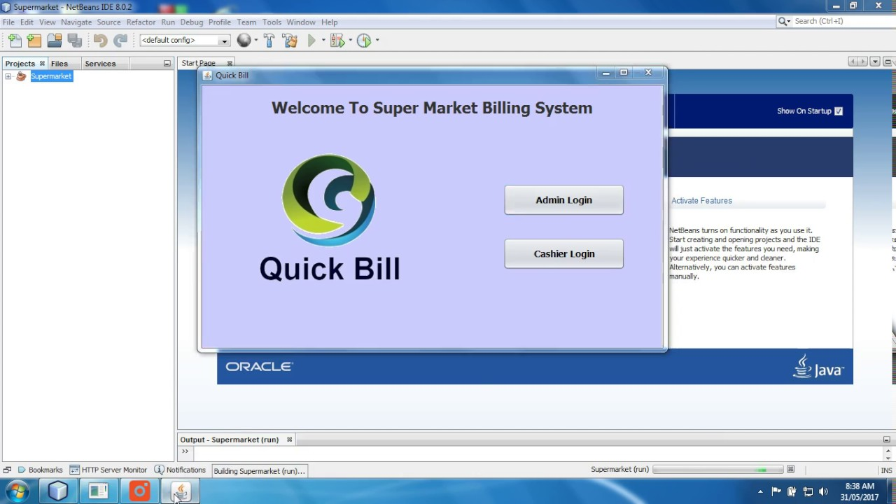 Supermarket Billing System In Java Part 1 With Source Code Youtube